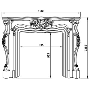 Jesmonite & Plaster Fireplaces
