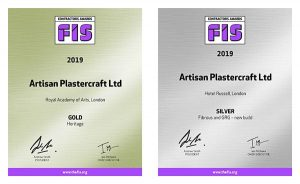 Image of gold and siliver FIS awards