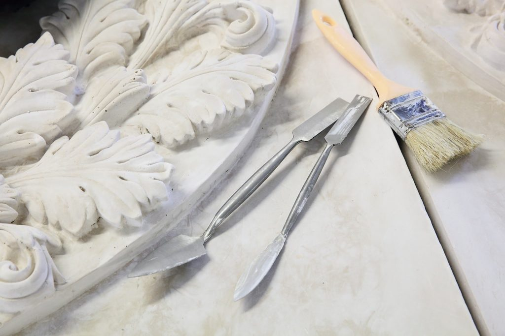 Decorative plaster moulding and tools