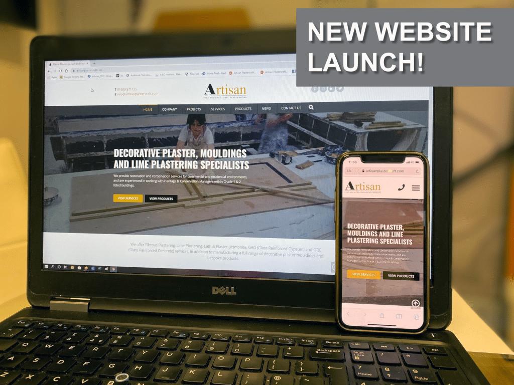 New Artisan Plastercraft website screenshot