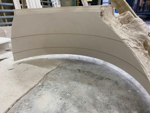 image of curved ceiling plaster cast