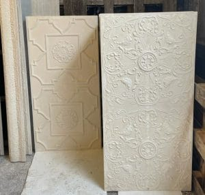image of ornamental plaster ceiling panel