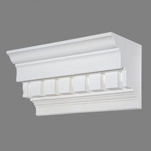 image of large dentil block cornice design