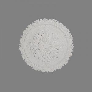 image of leaf enriched Victorian ceiling rose