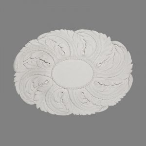 image of medium oval ceiling rose with acanthus leaves