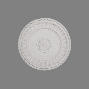 image of leaf and rope twist ceiling rose