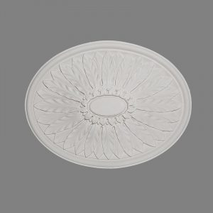 image of large oval french leaf ceiling rose