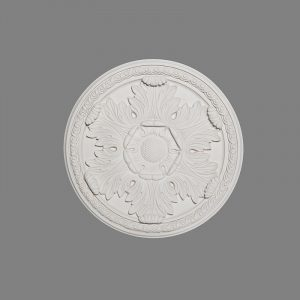 Image of guilloche enriched acanthus leaf ceiling rose