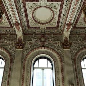 image of grosvenor room ceiling mouldings